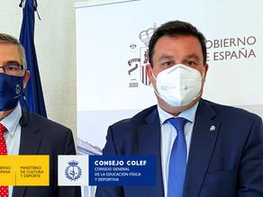 El Secretario General de Cultura y Deporte trata con el Consejo COLEF el RD de la Org. Colegial