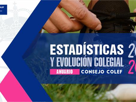 Anuario de Estadísticas y Evolución de los COLEF 2020