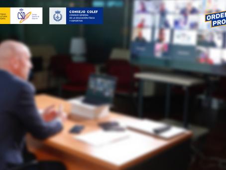 El equipo técnico del CSD responsable de la ley de #RegulaciónProfesionalYA recibe al Consejo COLEF
