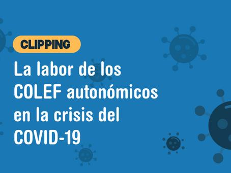 La labor de los COLEF autonómicos en la crisis del COVID-19