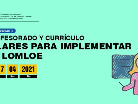 Seminario gratuito online 'Profesorado y Currículo: pilares para implementar la LOMLOE'