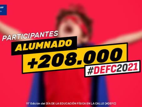 Más de 208.000 alumnos y alumnas de toda España celebran el #DEFC2021
