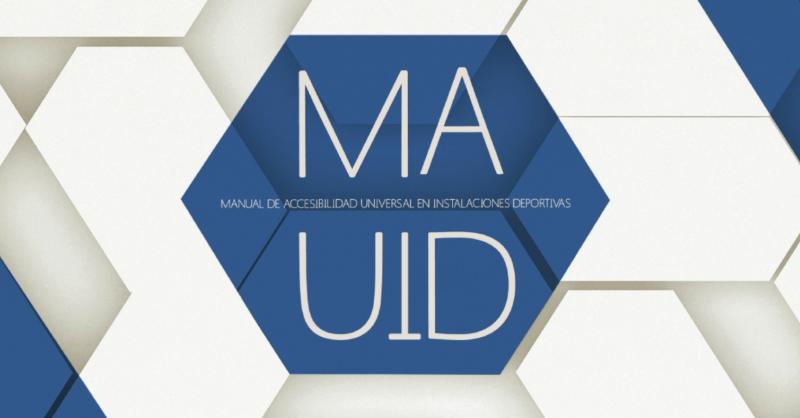 Hexágono azul con en título del Manual MAUID