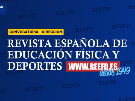 Se busca educador/a físico deportivo/a con doctorado para dirigir la REEFD