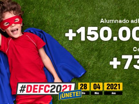 Cifras espectaculares de adhesión al #DEFC2021 a una semana de celebrarse