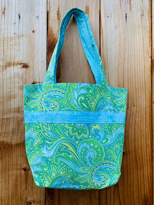 Blue & Green Paisley On The Go Bag