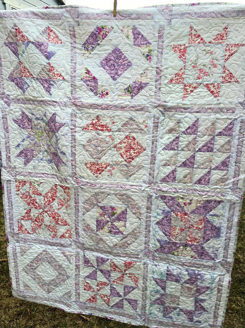 Shabby Chic Throw Quilt
