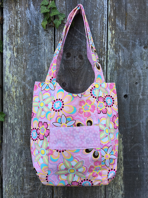 Whimsical Pink Floral Handbag