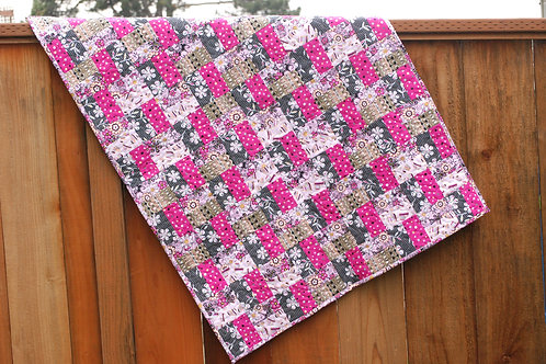 Party In Pink Baby/Toddler Quilt