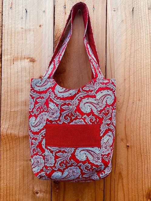 Red Paisley Handbag