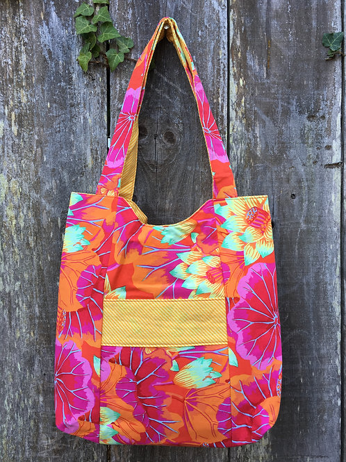 Red, Orange & Yellow Floral Handbag