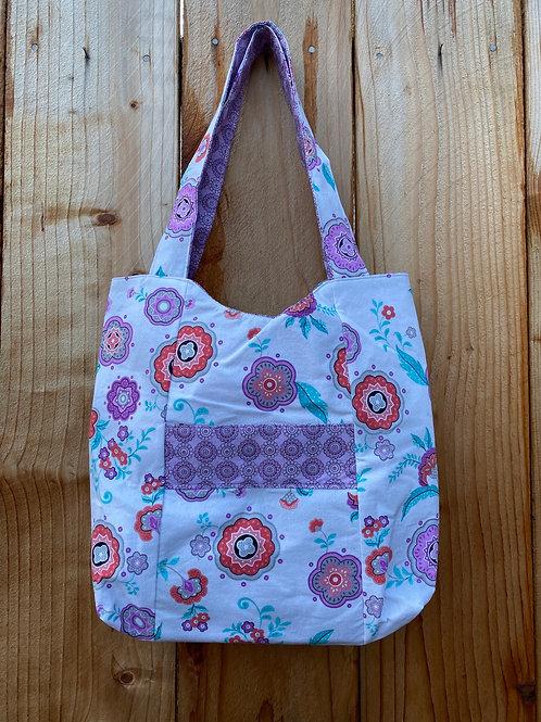 Purple Floral Handbag