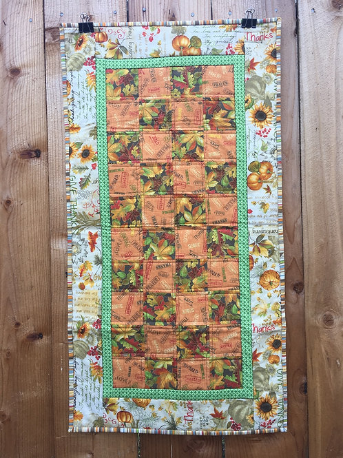 Give Thanks Fall Table Runner