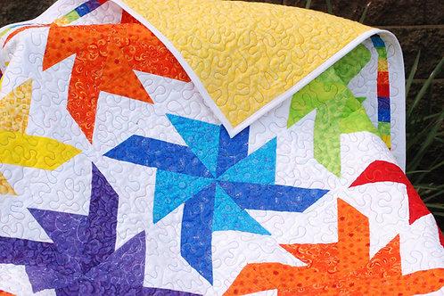 Rainbow Pinwheels Quilt