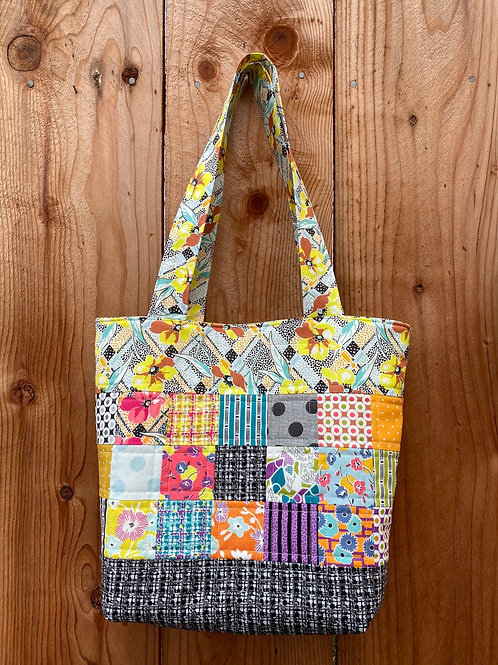 Retro Quilted Tote