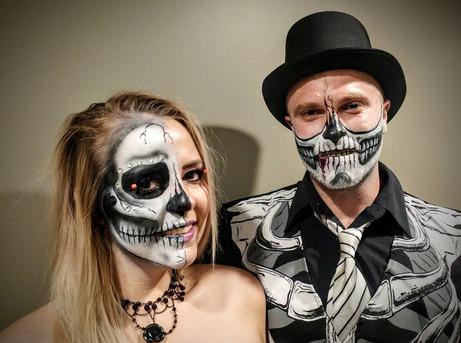 The half skull couple.