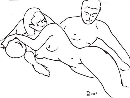 Cartoony Couple