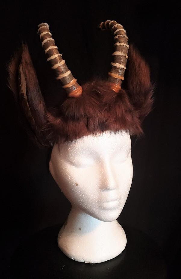 Mountain goat head dress