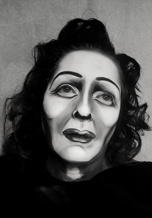 Auto painting. Edith Piaf, la Môme.