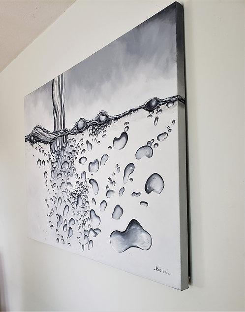 Bubbly disturbance