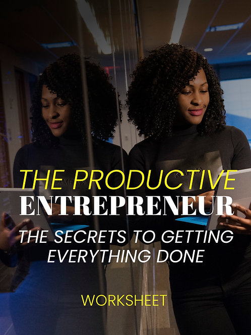 The Productive Entrepreneur Worksheet