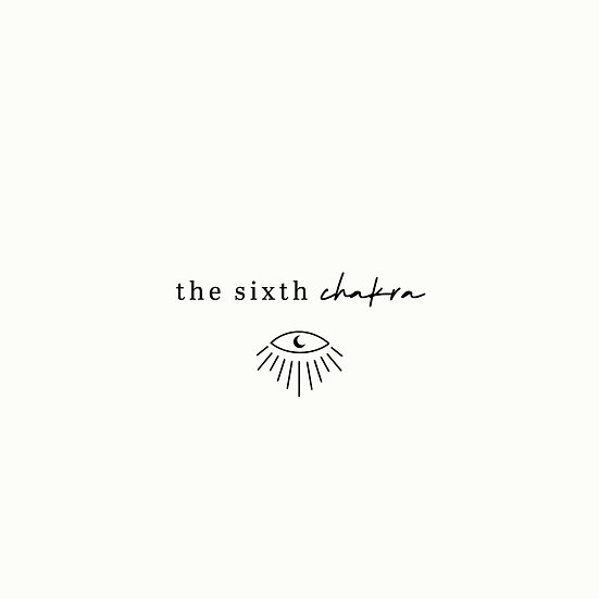 The Sixth Chakra hand drawn eye premade logo