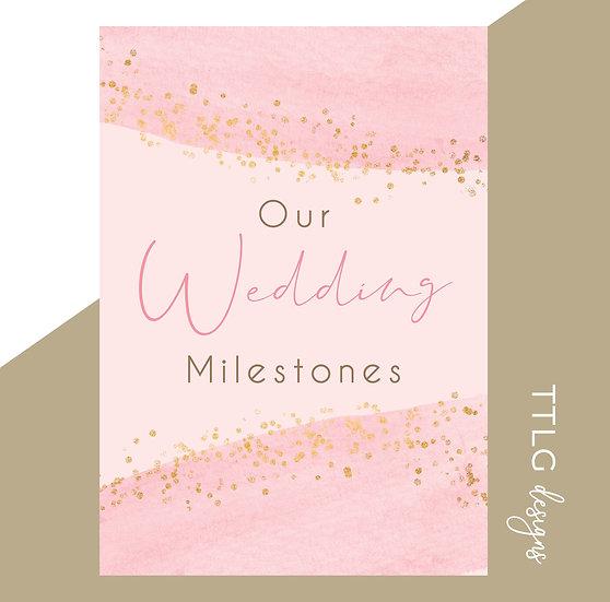 Our Wedding Milestone Cards