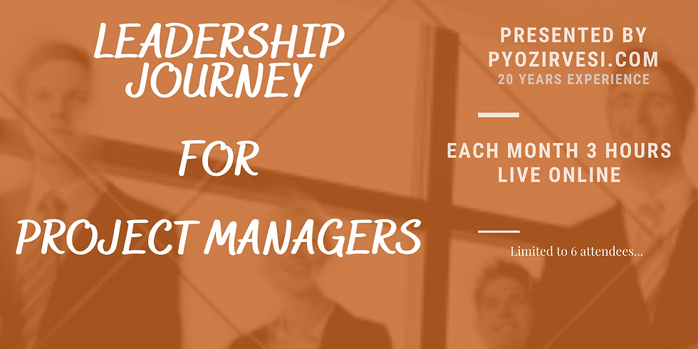 Leadership Journey for Project Manager