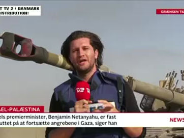 Covering the Gaza-Israel war from the front lines for TV2 Denmark