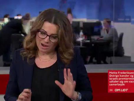 Live coverage fro TV2 Denmark from Jerusalem