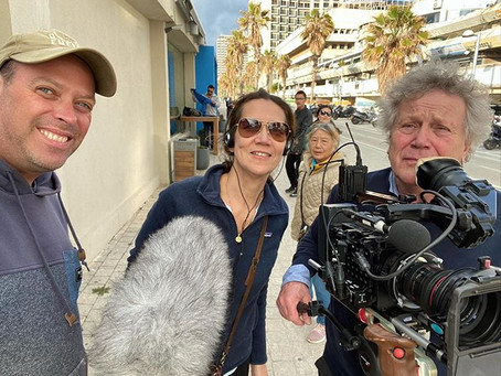 Filming for the Dutch TV VPRO in Israel and the Palestinian Territories