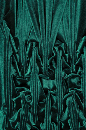"Detail of Untitled.  Velvet sculpture, approx. 24"" x 36"", 2018"