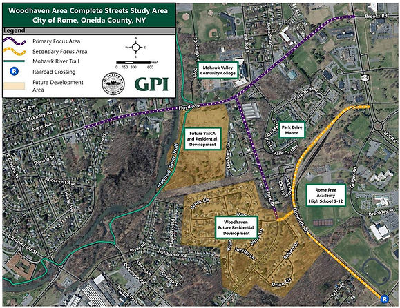 Woodhaven Complete Streets Study Area Ma