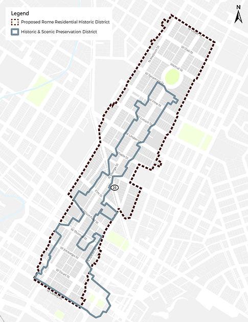 Proposed NR District vs Scenic Historic