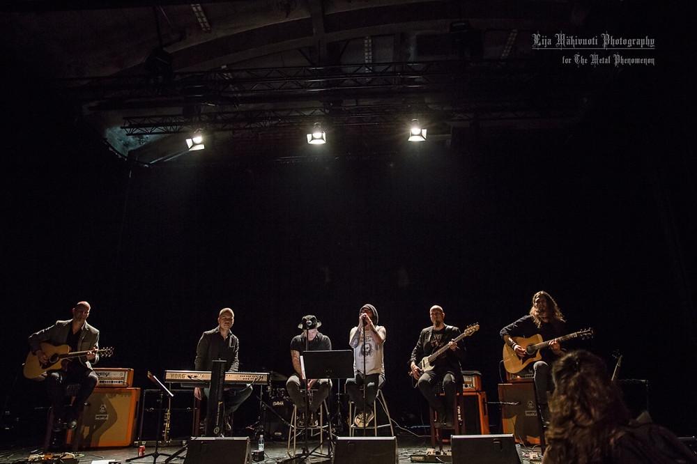 Pure magick: Swallow The Sun's acoustic show on Tuska Saturday. (Photo by Eija Mäkivuoti)