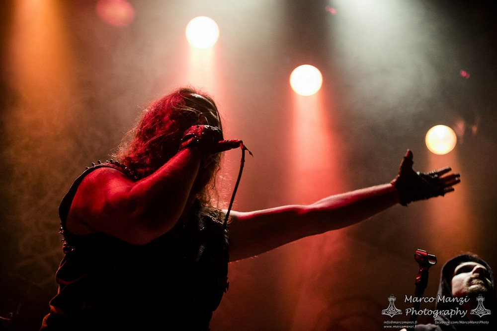 Kyy at Tampere Black Mass II in October 2016 (Photo by Marco Manzi)