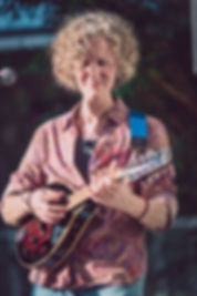 Katherine Archer and her mandolin