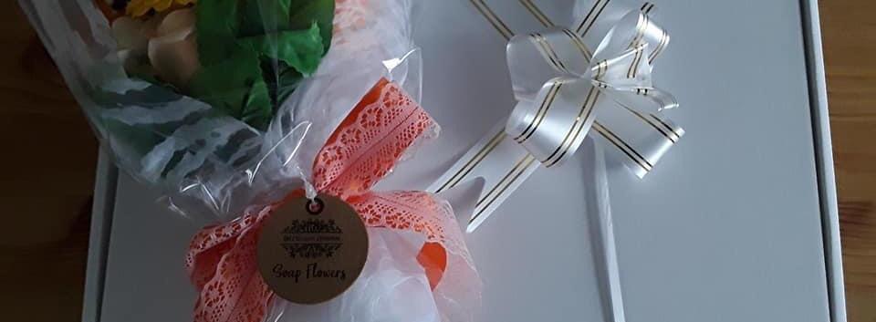 Soap Flower Bouquet Gift Box