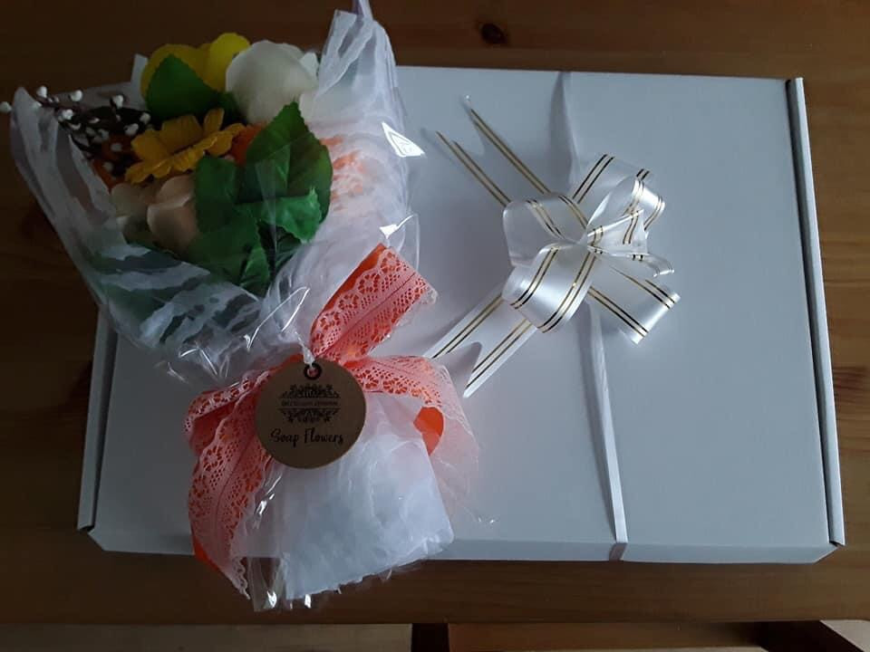 Soap Flower Bouquet Gift Box