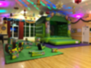 Jungle Bouncy Castle & Soft Play Package