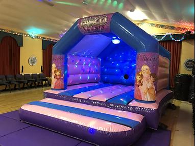 Princess Disco Bouncy Castle Hire