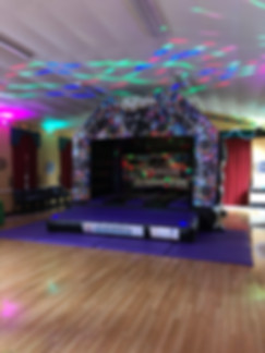 Adult Size Disco Bouncy Castle Hire