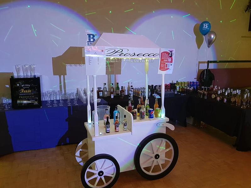 Prosecco Cart Bouncy Castle Hire