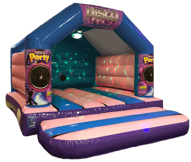 Pink Disco Bouncy Castle Hire