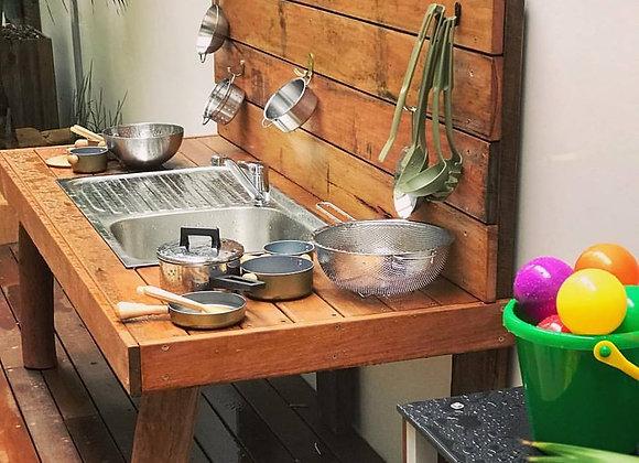 Hardwood Mud Kitchen