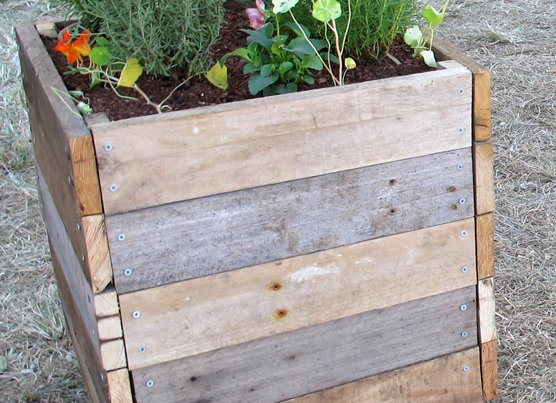 Rustic Hardwood Planter Box