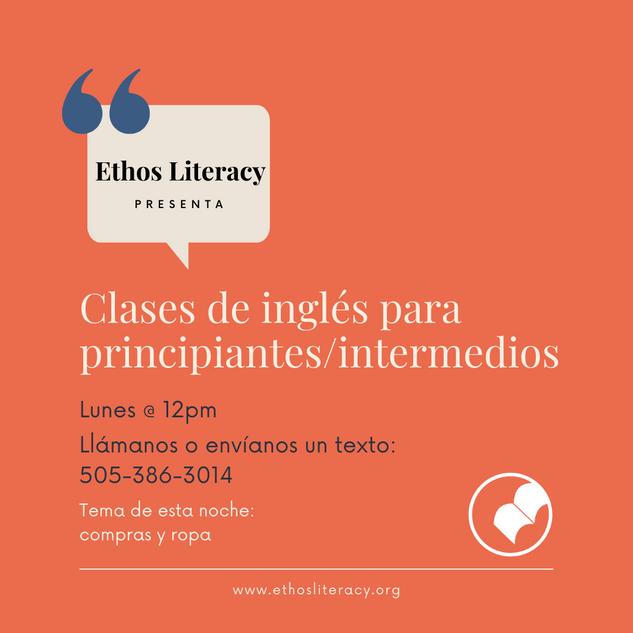 Clases de inglés para principiantes / intermedios