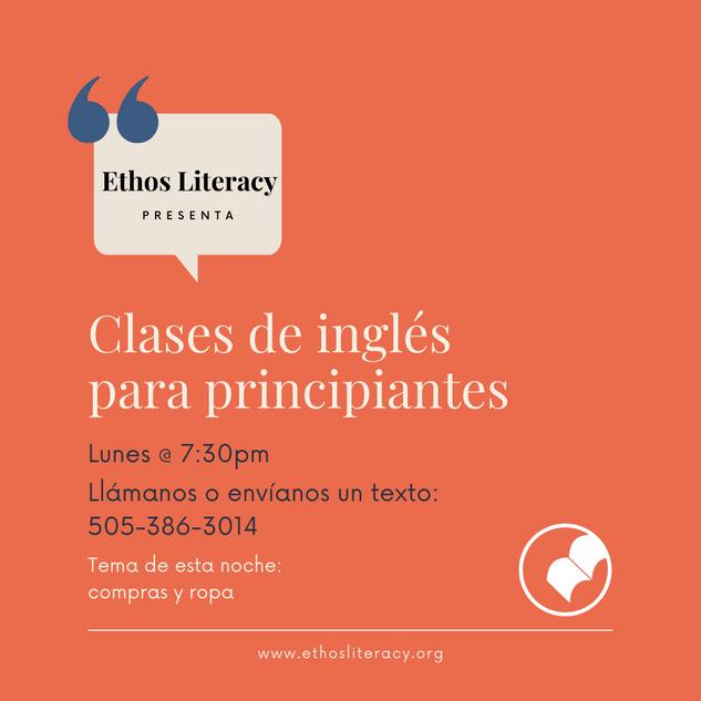 Clases de inglés para principiantes