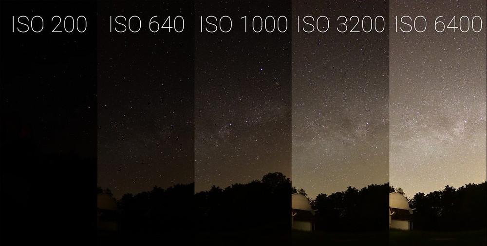 ISO Beispiel in der Nacht F1.8 · 20 Sek · 8mm