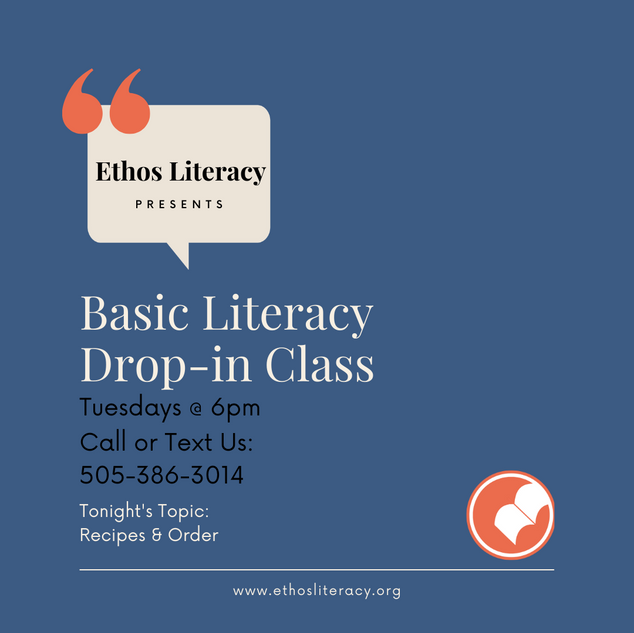 Basic Literacy Drop-In Class